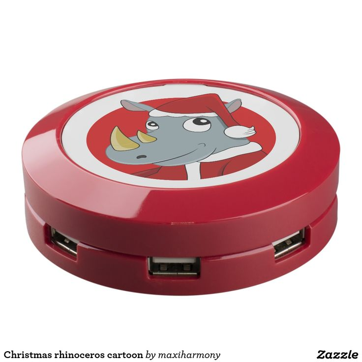 Christmas rhinoceros cartoon USB charging station