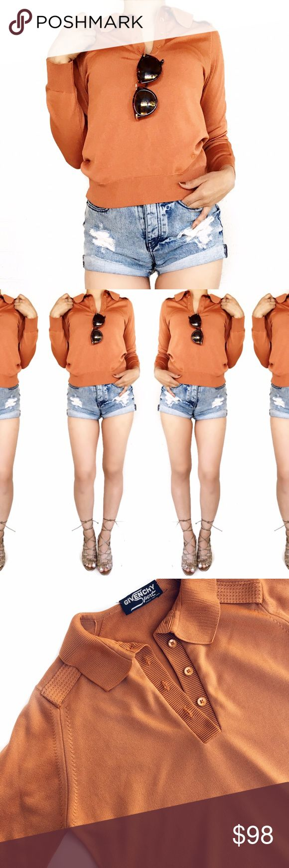 Vintage givenchy burnt orange military style top Super chic! No trades. Always open to offers. All photos are of actual item. Givenchy Tops
