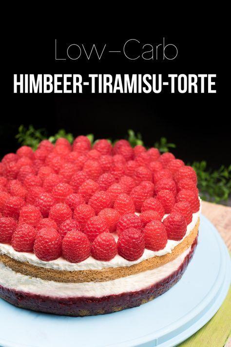 Die Himbeer-Tiramisu-Torte ist ein echter Hingucker. Zudem ist sie super lecker, low-carb und glutenfrei.