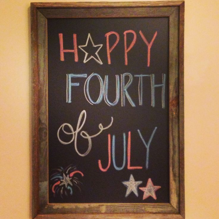 Happy 4th of July!  Chalkboard art