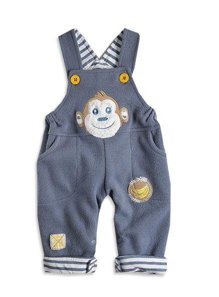 Pumpkin Patch - dungaree - knitted rib dungaree - W3BB20006 - steel grey - newborn to 12-18mths