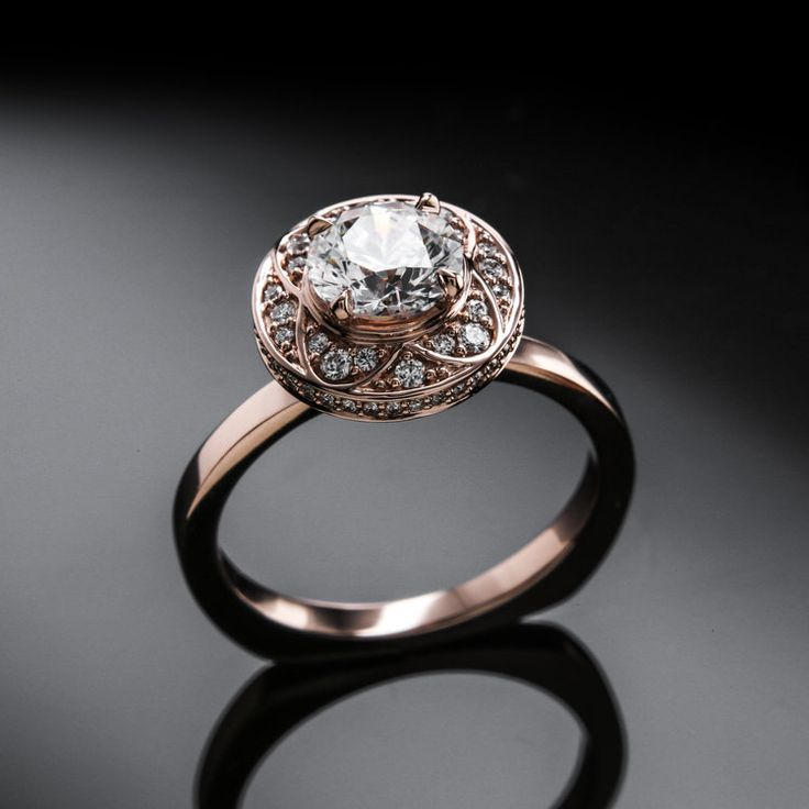 rose gold vintage style engagement rings by brian gavin diamonds the 810 collection - Wedding Engagement Rings