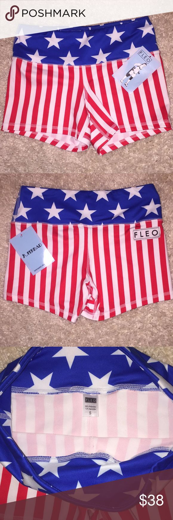 BNWT 🇺🇸 Fleo Crossfit Workout Booty Shorts 🇺🇸 Fleo crossfit Shorts new with tags! Bought and are too small for me. These have been sold out online! Fleo Shorts