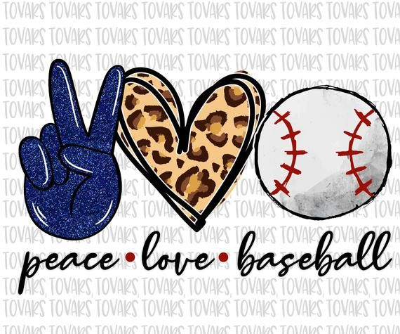 Download Peace love Baseball Sublimation Png Digital Download ...