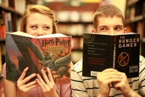 Two favorites - perfection. : Worth Reading, Engagement Photo, Stuff, Books Worth, Harrypotter, True Love, Hunger Games, Favorite Book, Harry Potter