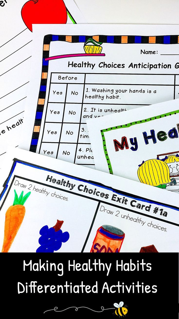 Teaching children how to make healthy choices is an important skill for students to learn. Choose fun healthy habits activities for kids when incorporating healthy choices ideas and worksheets into your lesson plans. Provide a variety of differentiated activities to reinforce the healthy habits you want your students to learn. CHECK out these differentiated activities today! #health #teachingwithatouchofhoney