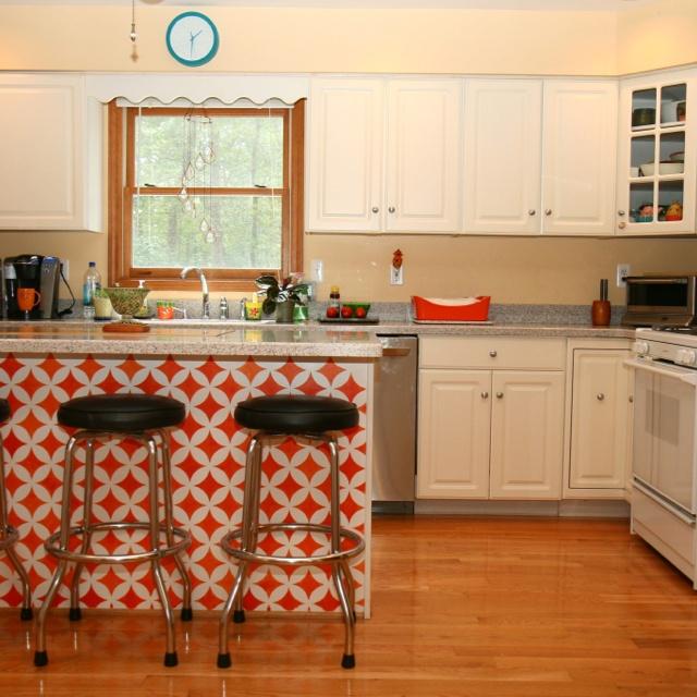 Cutting Edge Stencils Explores Island Adventures: My Kitchen. Stencil From Cuttingedgestencils.com