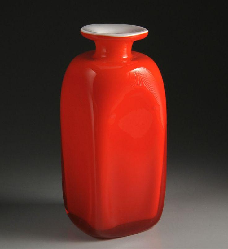 Holmegaard - Carnaby - Per Lytken - Skøn (sjælden) rød vase