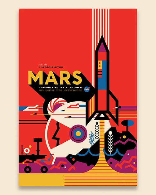 Invisible Creature Speaks  » Blog Archive   » New Work: Visions Of The Future for NASA - Space themed posters