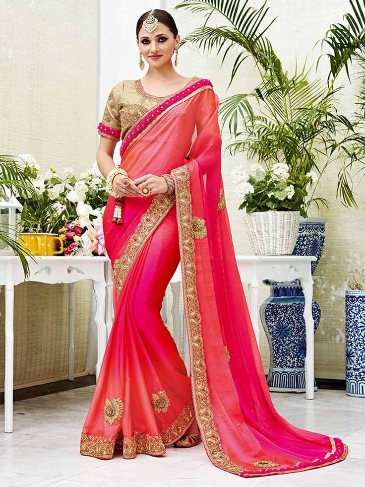 designer cross sheding silk chiffon sarees with imported flower borders fancy  | eBay