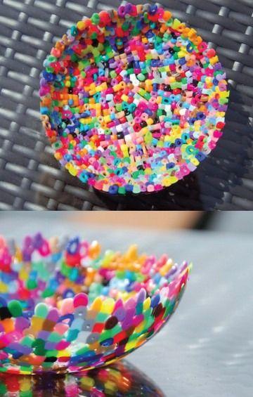 Plastic Perler Bead Bowls Bead Bowl Plastic Straw