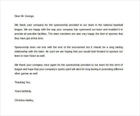 sports sponsorship letter donation letter for donation letter 9 free
