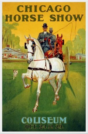 Vintage equestrian posters