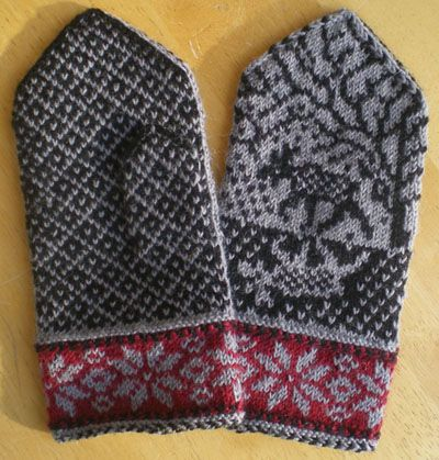 Swedish Moose Mittens