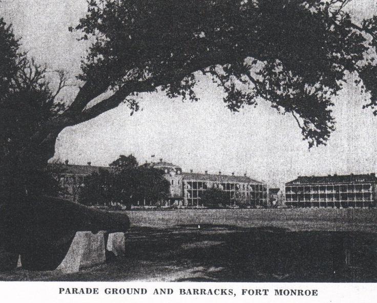 Barracks and Rodman Gun on display