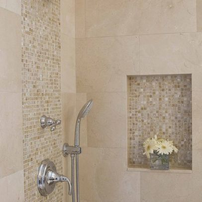 Use The Accent Wall Tile For Cut Out/built N Shelving On Shower   House    Pinterest   Wall Tiles, Walls And Bath Remodel