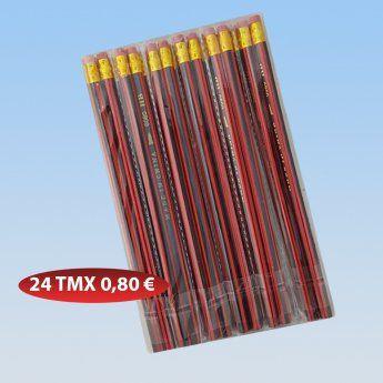 Σετ 24 μολύβια με γόμα .