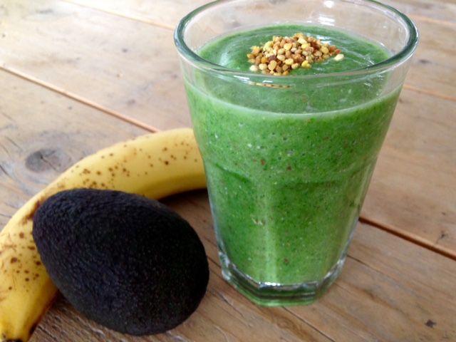 Romige groene smoothie.