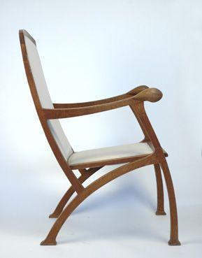 German Art Nouveau Arm Chair by Henry van de Velde