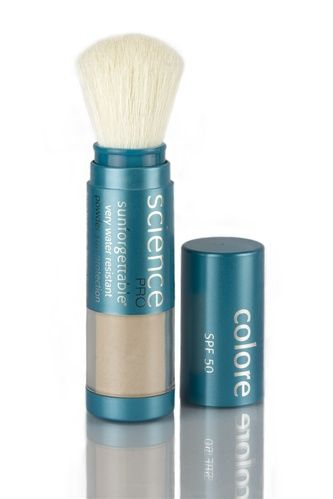 SUNFORGETTABLE MINERAL POWDER SPF 50 :: A lightweight mineral powder with a barely-there feel that provides a safe, non-irritating, instant UVA and UVB sun protection. The self-dispensing powder brush makes this sheer formula easy to apply and reapply throughout the day.