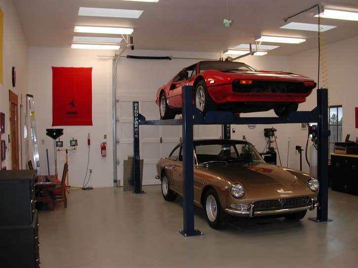 Garage ideas ferrari life interi r garage pinterest for Garage ad le pin