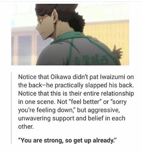 Oikawa and Iwaizumi | See this is one of the many reasons why I absolutely looove their friendship!! ><