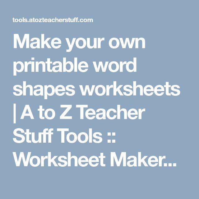 A To Z Teacher Stuff Tools Printable Handwriting Worksheet Generator