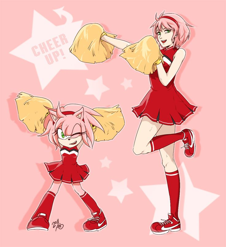 amy rose cheer girl by Ari1020 on deviantART