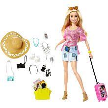 Barbie Pink Passport Vacation Doll Giftset