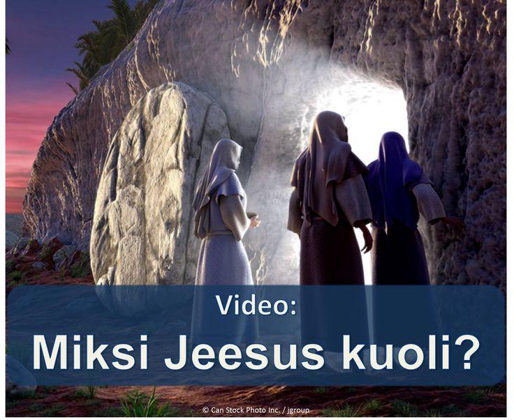Jeesuksen kuolemasta oli tarkoitus voi olla todellista hyötyä sinulle ja perheellesi! Lue, miten tässä videossa. https://www.jw.org/fi/julkaisut/kirjat/hyv%C3%A4-uutinen-jumalalta/kuka-on-jeesus-kristus/video-miksi-jeesus-kuoli/ (Jesus' death was meant to be a real benefit for you and your family! Find out how in this video.)