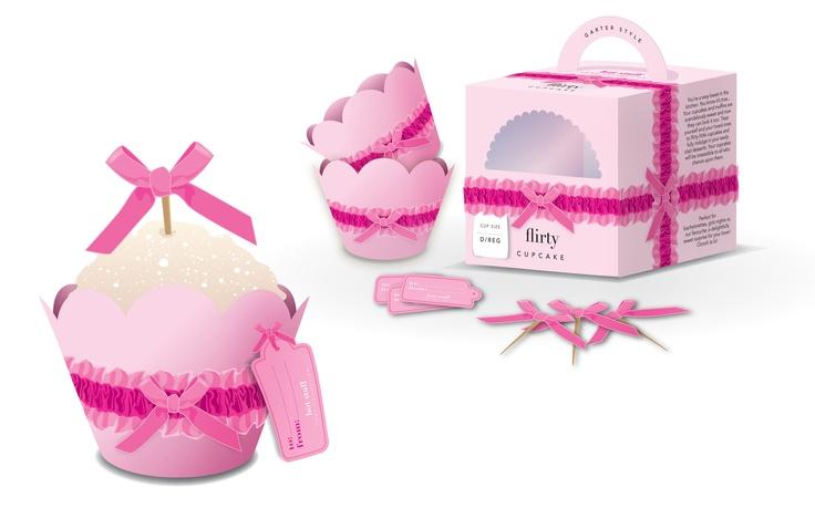 Flirty Cupcake packaging rendering. Copyright 2011.