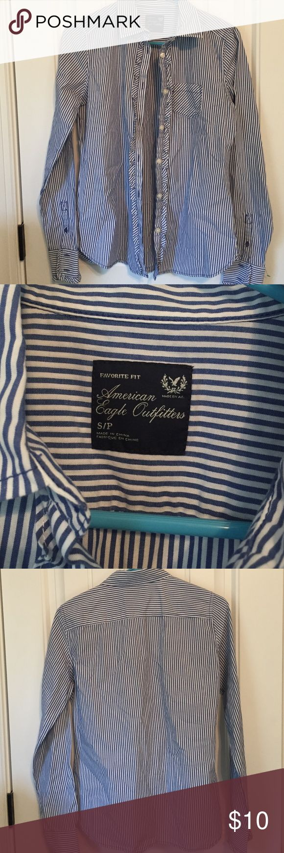 AE Outfitters Button Down Blouse Sz S/P Brand new never worn, comes from a smoke and pet free home. American Eagle Outfitters Tops Button Down Shirts
