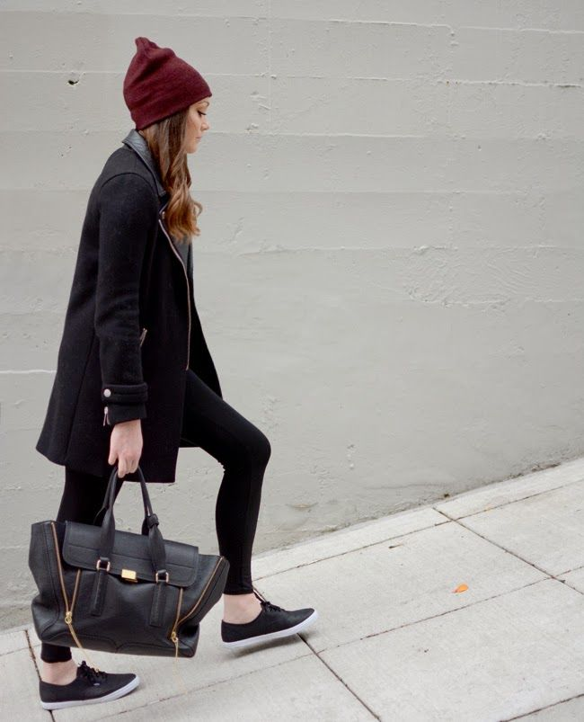 Black Leather Vans | Beanie | Street Style Girl