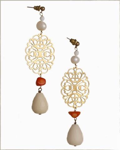 Handmade earrings, made with love.  Gioà.