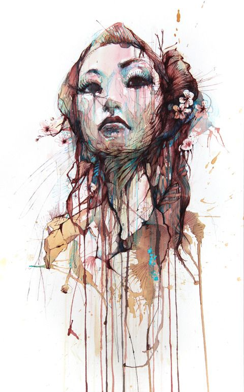 "Saatchi Online Artist: Carne Griffiths; Pen and Ink, 2011, Drawing ""Strength"""