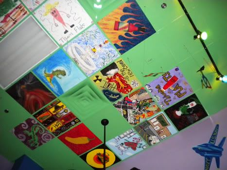 Painted ceiling tiles google search art club Rules for painting ceilings