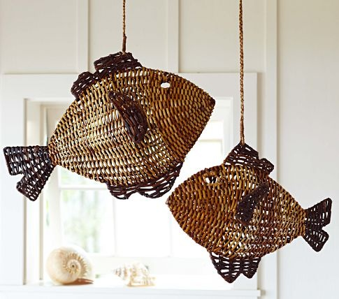 Woven Fish Hanging Decor – Just got these for Jake's nursery! This will b…