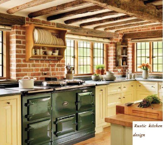 English Country Kitchen Design Ideas | Rustic kitchen decorating ideas