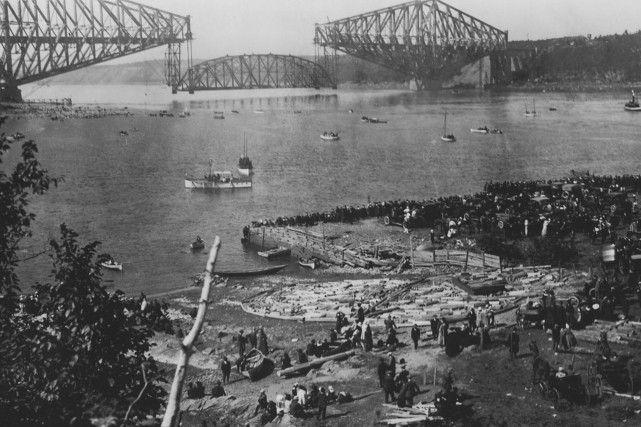 Le pont de Québec en 1916