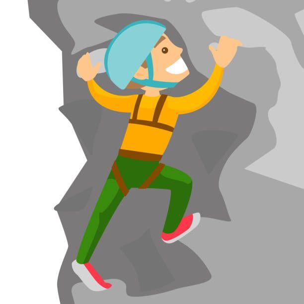 Royalty Free Mountain Climbing Mountain Cartoon Work Helmet Clip Person Climbing Clipart In 2020 Clip Art Cartoon Royalty Free