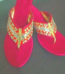 Buy pink plain silk footwear footwear online