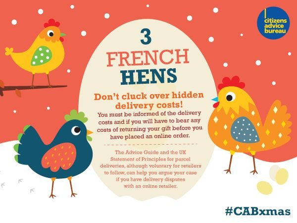 Don't cluck over hidden delivery costs #CABxmas