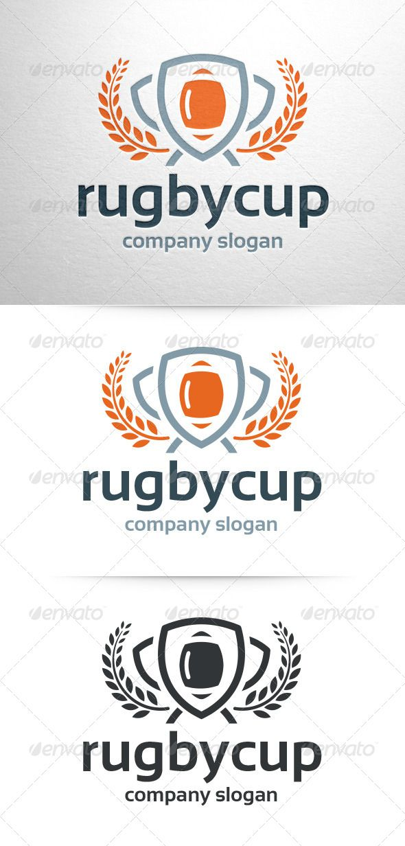 Rugby Cup Logo Template - Objects Logo Templates