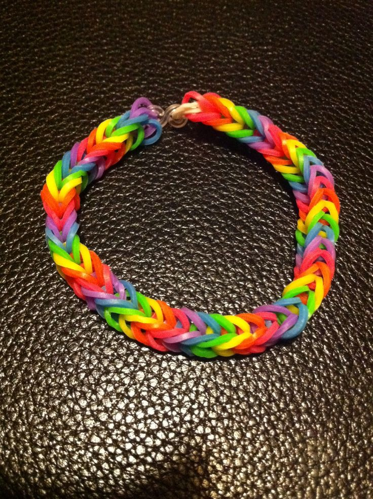 how to make square loom band bracelets with a loom