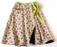 wrap around skirt pattern.