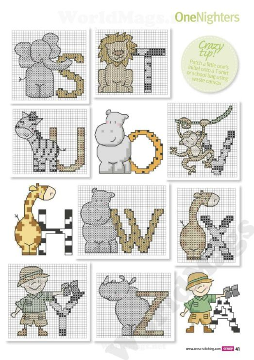 Safari Alphabet cross stitch Gallery.ru / Photo # 25 - Cross Stitch Crazy 179 2013 - tymannost