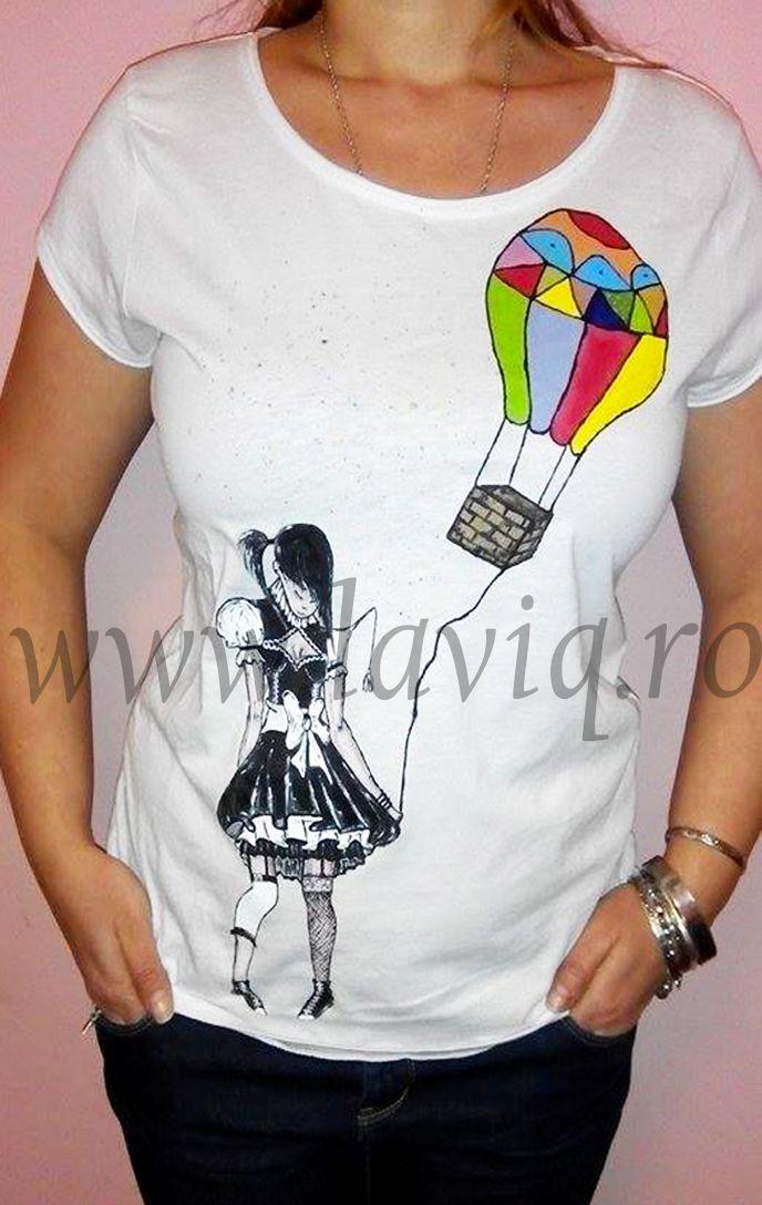 Tricou pictat BALONUL COLORAT  www.laviq.ro www.facebook.com/pages/LaviQ/206808016028814