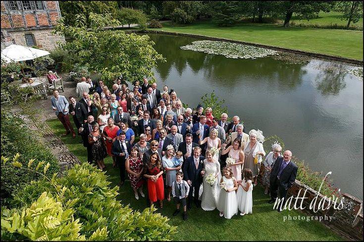 Birtsmorton Court wedding group photo