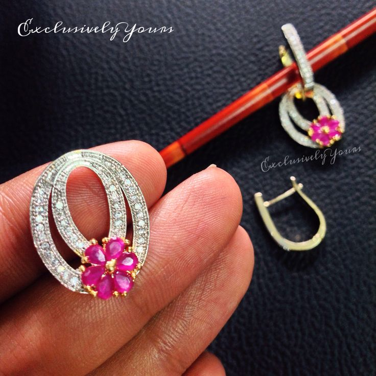 Detachable Earrings - Art made with Cz stones and semi precious ruby stone to give that eye catching attraction. Make it yours @ ExclusivelyYours. INR : 700 Email: CustmerCareEY@gmail.com WhatsApp: +91-999-444-0659