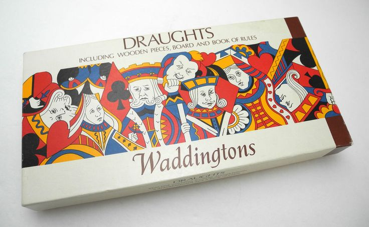 Waddingtons Draughts Game-English Checkers w/Board, Wooden Pieces, Instructions in Toys & Hobbies, Games, Board & Traditional Games | eBay